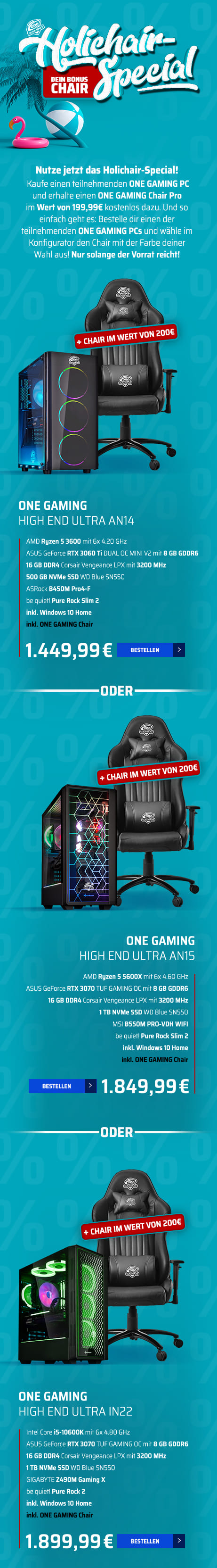 ONE GAMING PC HIGH END ULTRA AN14, ONE GAMING PC HIGH END ULTRA AN15, ONE GAMING PC HIGH END ULTRA IN22