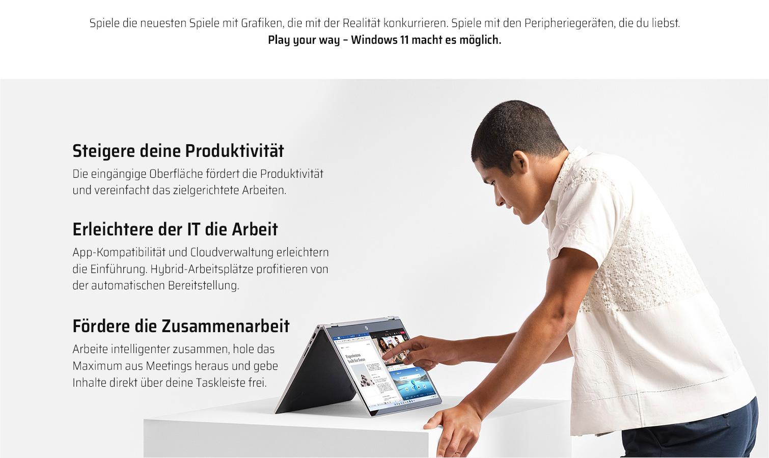 Steigere deine Produktivität, erleichtere der IT die Arbeit und fördere die Zusammenarbeit mit Windows 11