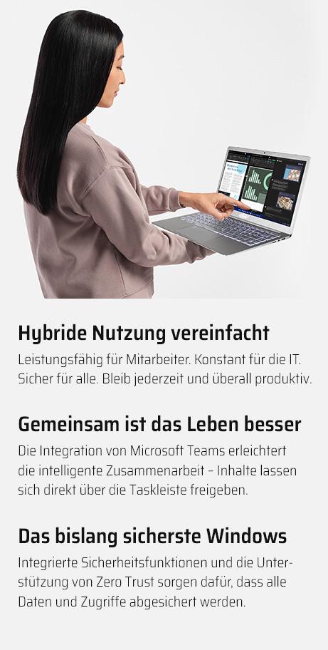 Hybride Nutzung und ein sicheres Betriebssystem: Windows 11 bietet dir viele Vorteile